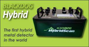 detector de metales de gran profundidad blackdog hybrid