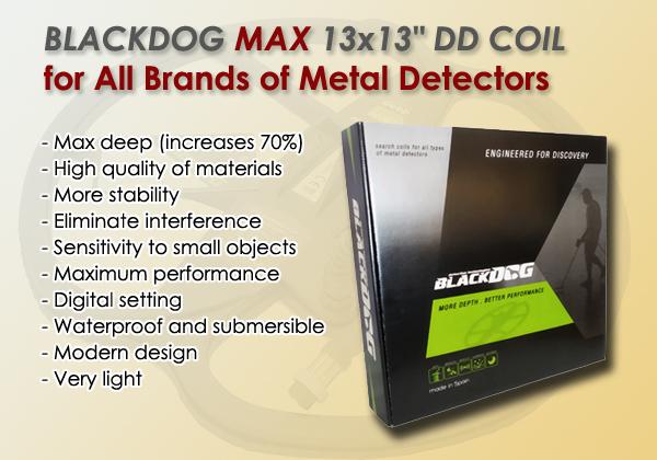 Plato detector de metales Blackdog