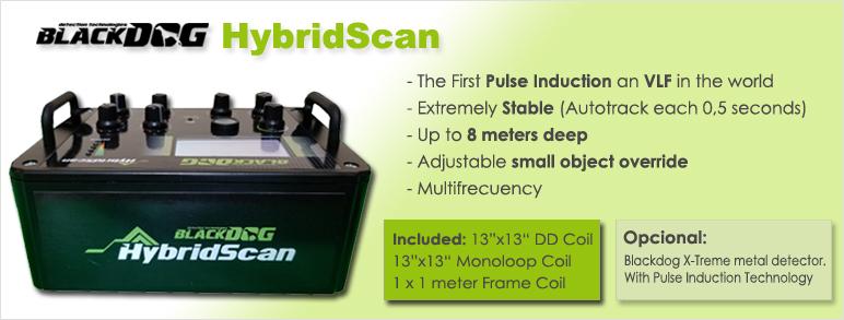 caracteristicas principales del detector de metales blackdog hybridscan