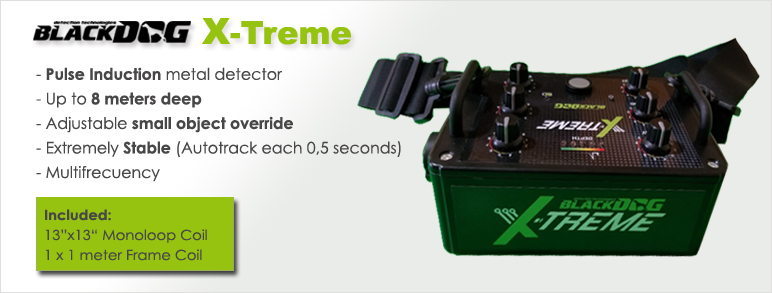 caracteristicas principales del detector de metales blackdog xtreme