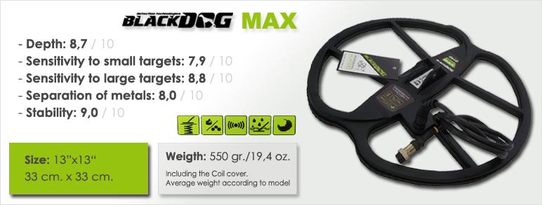 caracteristicas principales del plato para detector de metales blackdog max