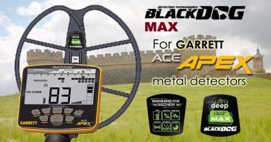 Plato detector de metales Blackdog Garret APEX
