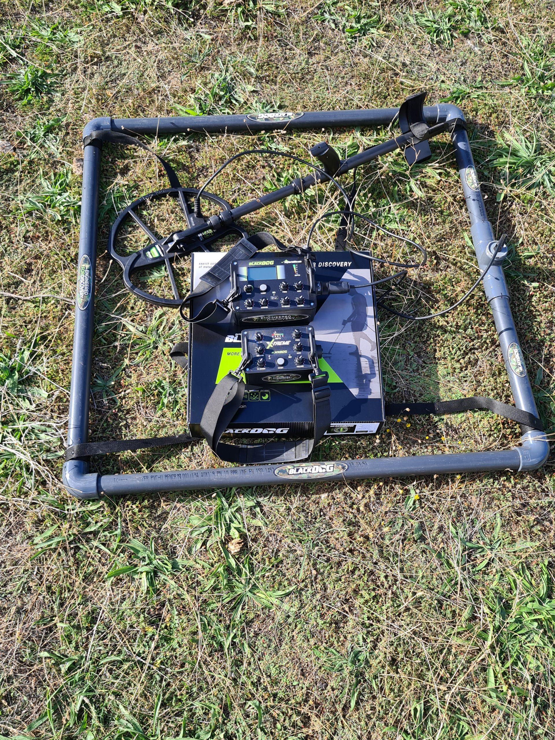 plato blackdog de gran profundidad para detectores de metales